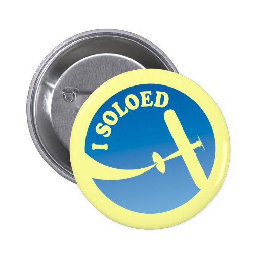 I Soloed & Airplane Graphic 2 Inch Round Button