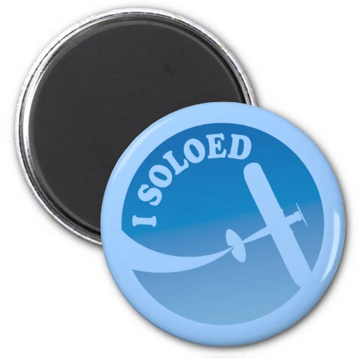 I Soloed & Airplane Graphic 2 Inch Round Magnet