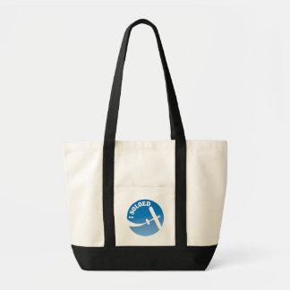 I Soloed & Airplane Graphic Impulse Tote Bag