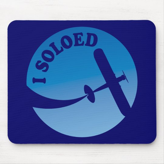 I Soloed & Airplane Graphic Mouse Pad