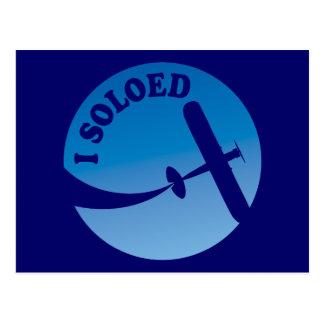 I Soloed & Airplane Graphic Postcard