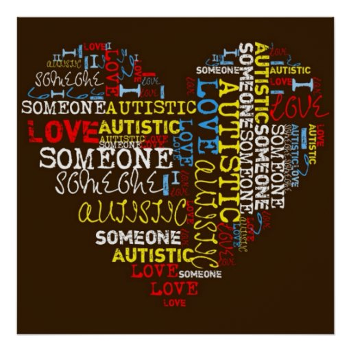 I❤️ someone Autistic Poster Posters