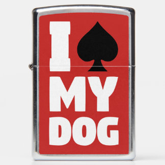 I Spade My Dog (I Spayed My Dog) Zippo Lighter