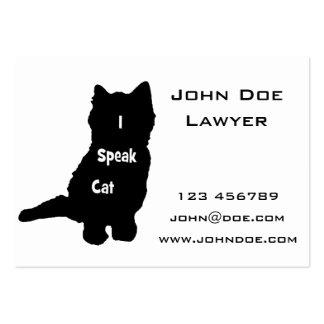 I Speak Cat Large Business Cards (Pack Of 100)