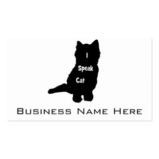 I Speak Cat Double-Sided Standard Business Cards (Pack Of 100)