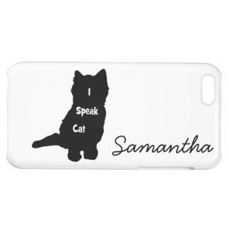 I Speak Cat iPhone 5C Cases