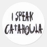 I Speak Catahoula Classic Round Sticker