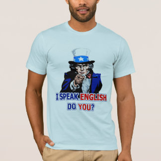 I Speak English Basic American Apparel T-Shirt