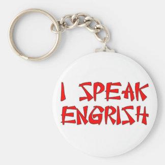 I Speak Engrish Basic Round Button Keychain