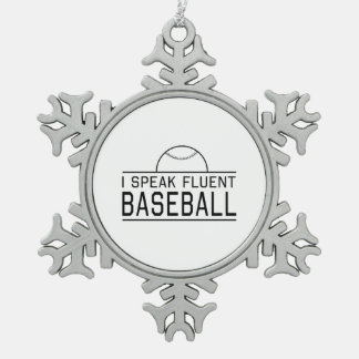 I Speak Fluent Baseball Ornament