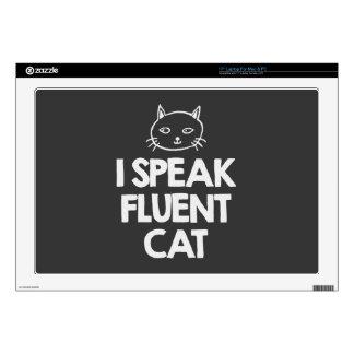 """i-speak-fluent-cat-must-love-animals-tees-dark-t-s decal for 17"""" laptop"""