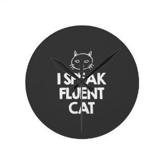 i-speak-fluent-cat-must-love-animals-tees-dark-t-s round clock