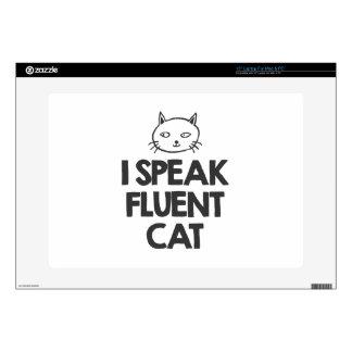 """i-speak-fluent-cat-must-love-animals-tees-white-t- 15"""" laptop decals"""