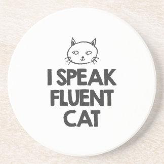 i-speak-fluent-cat-must-love-animals-tees-white-t- sandstone coaster