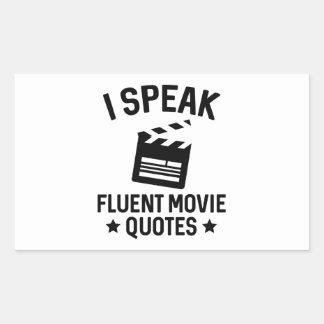 I Speak Fluent Movie Quotes Rectangular Sticker