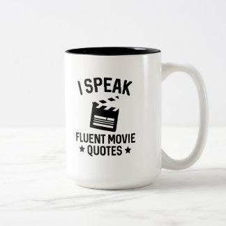 I Speak Fluent Movie Quotes Two-Tone Coffee Mug