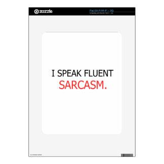 I Speak Fluent Sarcasm Decals For The iPad