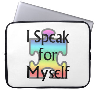 I Speak for Myself Laptop Sleeve