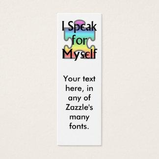 I Speak for Myself Mini Business Card