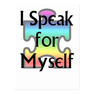 I Speak for Myself Postcard
