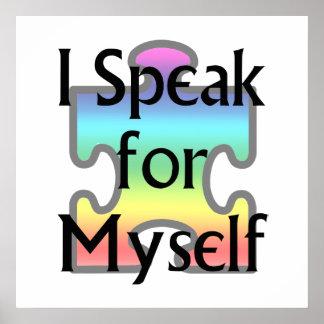I Speak for Myself Poster