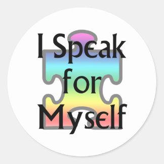 I Speak for Myself Round Stickers