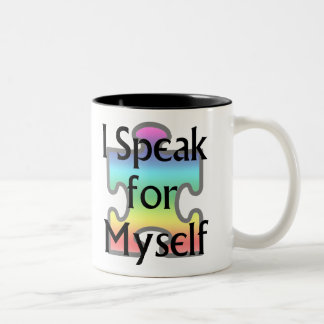 I Speak for Myself Two-Tone Coffee Mug