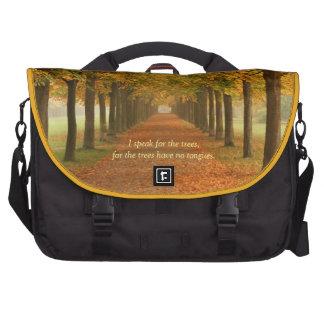 I speak for the trees--Laptop Bag