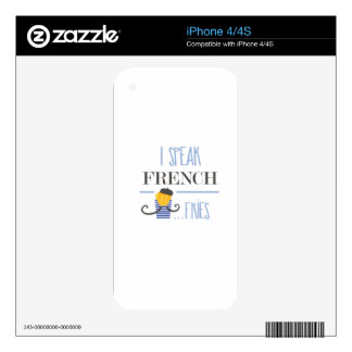 I Speak French... Fries Decals For The iPhone 4S