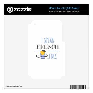 I Speak French... Fries iPod Touch 4G Skin