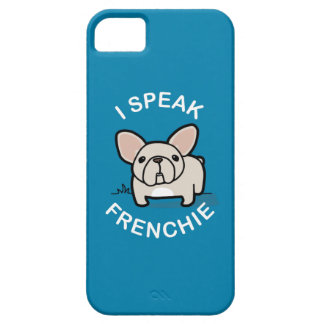 I Speak Frenchie - Blue iPhone 5 Cases