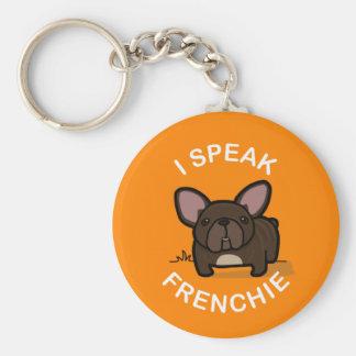 I Speak Frenchie - Orange Keychains