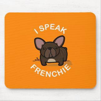 I Speak Frenchie - Orange Mouse Pad