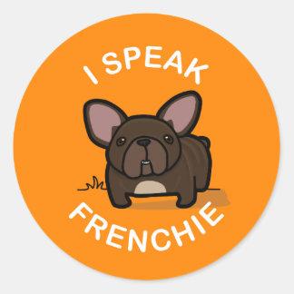 I Speak Frenchie - Orange Stickers