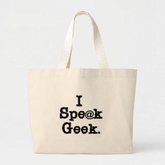 I Speak Geek Tote Bags