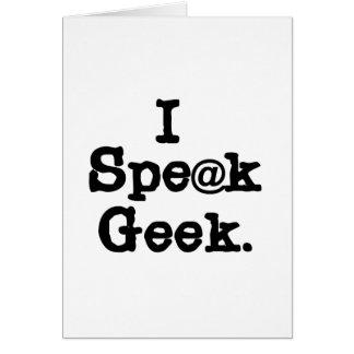 I Speak Geek Cards
