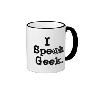 I Speak Geek Ringer Coffee Mug