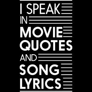 Song lyrics posters photo prints zazzle i speak in movie quotes and song lyrics poster stopboris Images