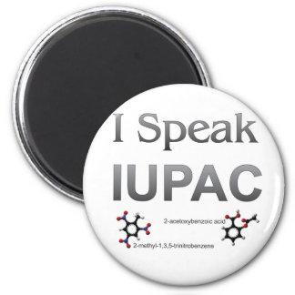 I Speak IUPAC Chemistry Nomenclature 2 Inch Round Magnet