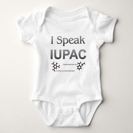 I Speak IUPAC Chemistry Nomenclature Baby Bodysuit