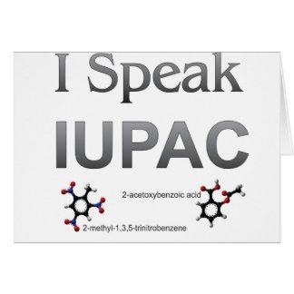 I Speak IUPAC Chemistry Nomenclature Card