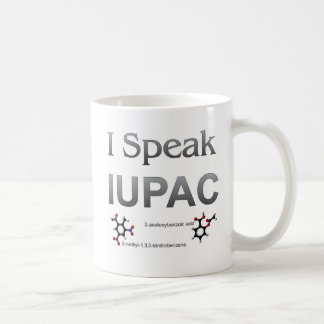 I Speak IUPAC Chemistry Nomenclature Coffee Mug