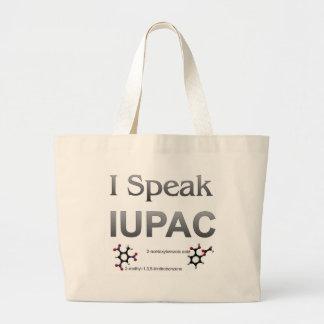 I Speak IUPAC Chemistry Nomenclature Large Tote Bag