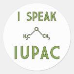I Speak IUPAC Sticker
