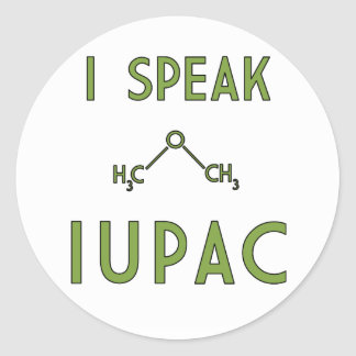 I Speak IUPAC Sticker