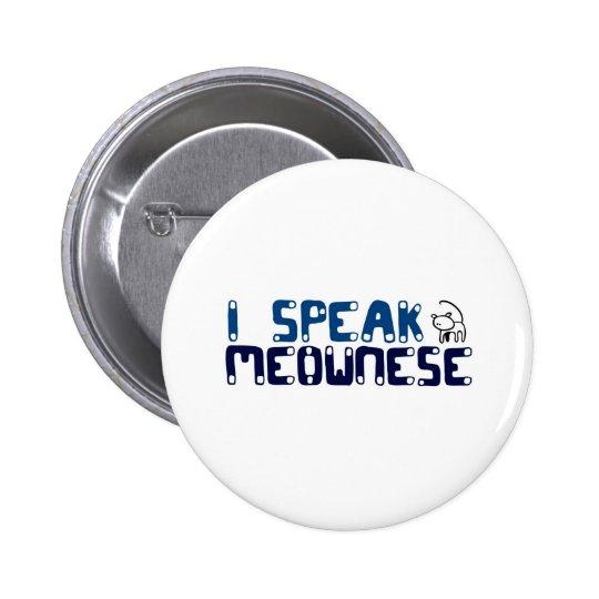 I speak Meownese Button