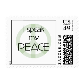 I Speak My Peace T-shirts and Gifts Postage Stamp