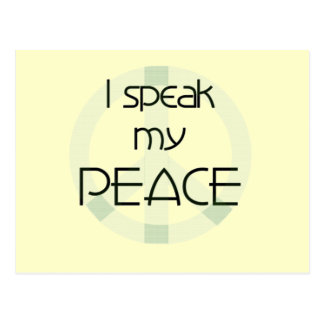 I Speak My Peace T-shirts and Gifts Postcard
