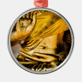 I Speak Peace: Mastering the Art of Peace. Round Metal Christmas Ornament