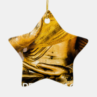 I Speak Peace: Mastering the Art of Peace. Double-Sided Star Ceramic Christmas Ornament